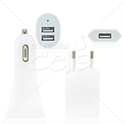 Picture of 3 in 1 Europe Wall Plug Car Charger Travel Kit for iPhone 5 & iPad mini