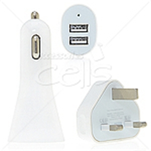 Picture of 3 in 1 UK Wall Plug Car Charger Travel Kit for iPhone 5 & iPad mini
