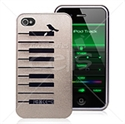 Picture of Piano Keyboard Cut Light Grey Metal Hard Case For iPhone 4 & iPhone 4S