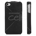 Picture of Cowhide Leather Hard Flip Folio Case For iPhone 4 & iPhone 4S
