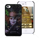 Picture of 3D Mad Hatter Slim Hard Back Cover For iPhone 4 & iPhone 4S