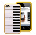 Picture of Piano Keyboard Slim Silicone Back Cover For iPhone 4 & iPhone 4S