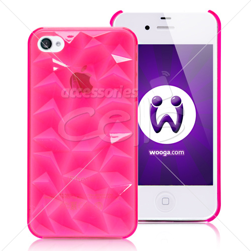 3D Diamonds Hard Back Cover Case for iPhone 4 & iPhone 4S
