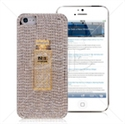 Picture of Perfume Rhinestones Metal Back Cover for iPhone 5