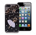 Picture of 3D Ballerina Rhinestone Back Cover for iPhone 5