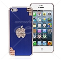 Picture of Apple Logo Rhinestones Metal Back Cover for iPhone 5