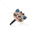 "Picture of 3.5"" Cat Head Rhinestone Pendant Ear Cap"