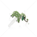 "Picture of 3.5"" Elephant Rhinestone Pendant Ear Cap"