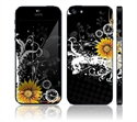 Picture of Apple iPhone 5 Decal Skin - Black Skull