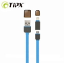 Picture of TipX Dual Lightning / Micro USB Sync & Charge Cable - Blue