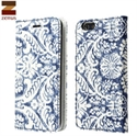 Picture of Zenus Denim Paisley Diary iPhone 6 Case - Blue