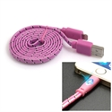 Picture of Happy Braided Light-up 1m Lightning Cable - Pink