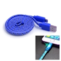 Picture of Happy Braided Light-up 1m Lightning Cable - Blue