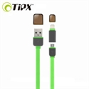 Picture of TipX Dual Lightning / Micro USB Sync & Charge Cable - Green