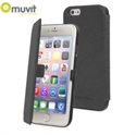 Picture of Muvit Made in Paris iPhone 6 Plus Slim Folio Case - Black