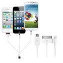 Picture of 4-in-1 Charge and Sync Cable (Apple, Galaxy Tab, Micro USB) - White
