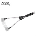 Picture of STK Zippit 3.5mm Anti-Tangle Earphones and Hands-free Microphone-White