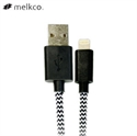 Picture of Melkco Braided Lightning Charge and Sync Cable 1M - Black