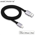 Picture of Just Mobile AluCable 4ft / 1.2m Flat Lightning Cable - Black / Silver