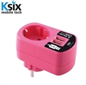 Picture of Ksix 3.1A Dual USB and EU Mains Charger - Pink