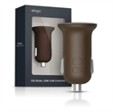Picture of Elago Dual USB Car Charger 2.1 Amp - Brown