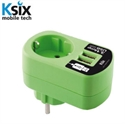 Picture of Ksix 3.1A Dual USB and EU Mains Charger - Green