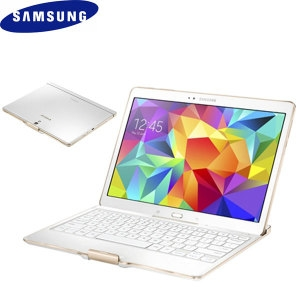 Picture of Official Samsung Tab S 10.5 Bluetooth Keyboard Case - Dazzling White