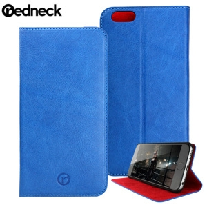 Picture of Redneck Red Line Folio Book iPhone 6 Plus Genuine Leather Case - Blue
