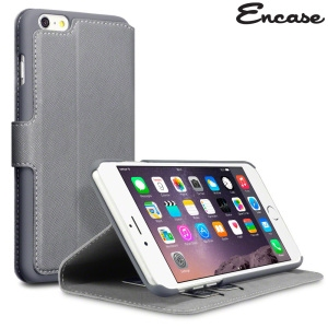 Picture of Encase Low Profile iPhone 6 Plus Wallet Stand Case - Grey