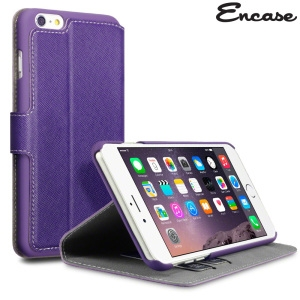 Picture of Encase Low Profile iPhone 6 Plus Wallet Stand Case - Purple