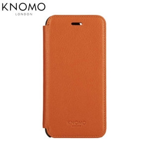 Picture of Knomo Leather Folio iPhone 6 Plus Wallet Case - Brown
