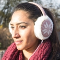 Picture of Audio Earmuff Headphones - Pink Snowflake