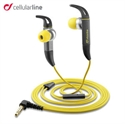 Picture of Cellular Line Kite Hands-free Sport Earphones - Grey / Yellow